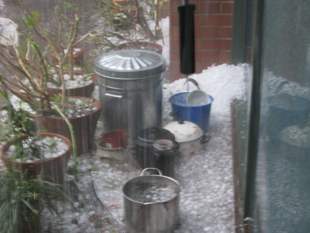 Hail storm, Monday 22nd March