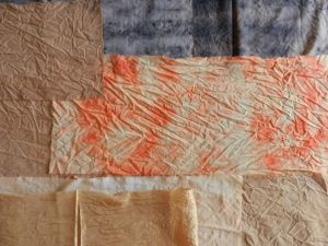 Map cloth dyed